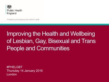 of Lesbian Gay Bisexual and Trans People and Communities