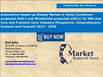 China automotive heads up display market