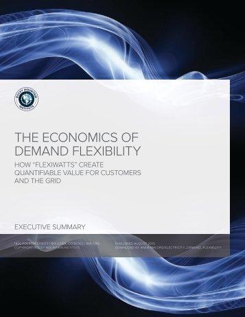THE ECONOMICS OF DEMAND FLEXIBILITY