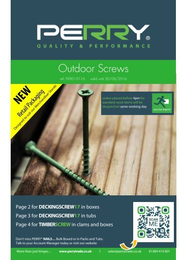 Outdoor Screws