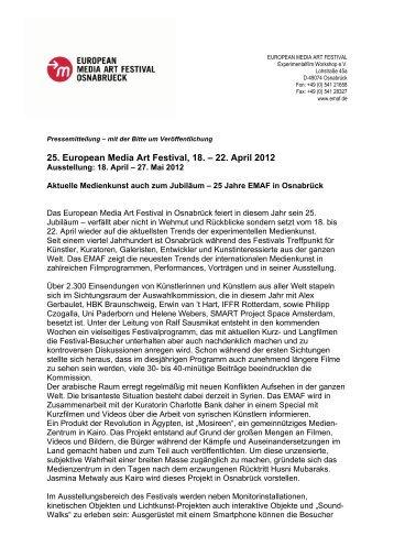 Download Pressemitteilung 01-2012 als PDF - EMAF