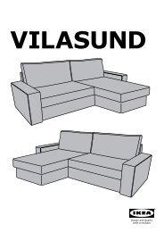 Ikea VILASUND / MARIEBY divano letto con chaise-longue - S49907185 - Istruzioni di montaggio