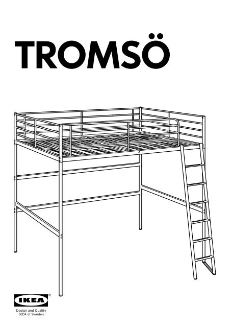 Istruzioni Montaggio Letto A Castello Ikea.Ikea Tromso Struttura Per Letto A Soppalco 90179786 Istruzioni