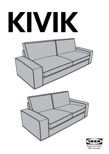 Divano Kivik 3 Posti Ikea.Ikea Kivik Divano A 3 Posti S59894267 Istruzioni Montaggio Pdf