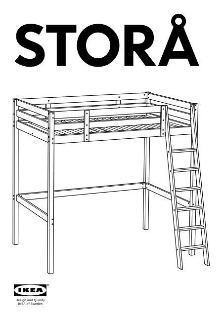 Letto A Castello Stora Ikea.Ikea Stora Struttura Per Letto A Soppalco 00160866 Istruzioni