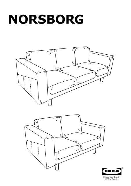 Ikea Norsborg Divano 2 Posti Con 2 Chaise Longue S49125051
