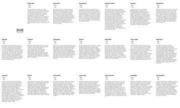 Ikea RATIONELL giunzione angolare - 00206671 - Manuali