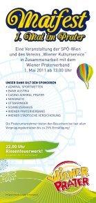 Infofolder zum Maifest 2011 im Prater - SPÖ Wien - Seite 2