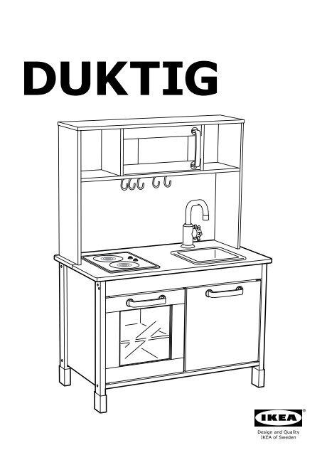 Ikea DUKTIG Cucina Gioco - S49874533 istruzioni montaggio pdf ...
