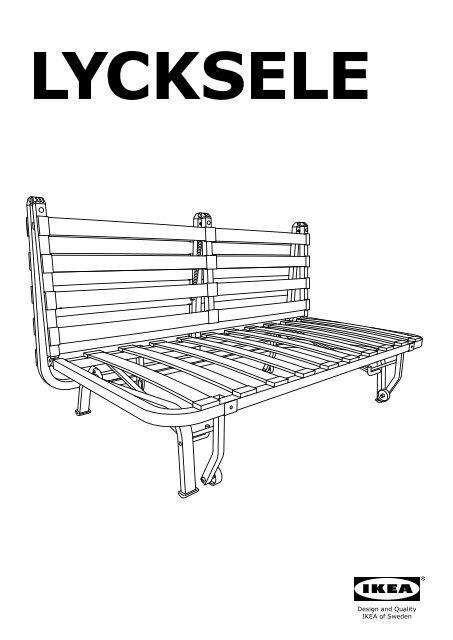 Lycksele Poltrona Letto.Ikea Lycksele Struttura Divano Letto A 2 Posti 90032681