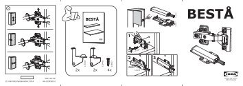 Ikea BESTÅ mobile TV - S69123843 - Istruzioni di montaggio