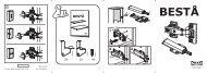 Ikea BESTÅ combinazione con ante a vetro - S79124776 - Istruzioni di montaggio