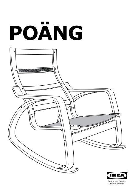Ikea Poäng Sedia A Dondolo S09900869 Istruzioni Montaggio
