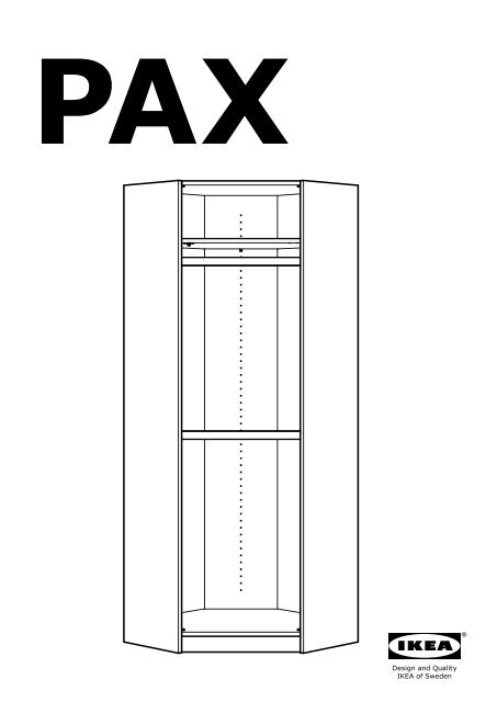 Ikea pax guardaroba angolare s69906694 istruzioni di for Ikea armadio angolare