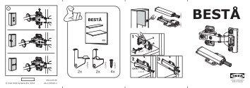 Ikea BESTÅ mobile con anta - S29046644 - Istruzioni di montaggio
