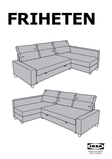 Divano Letto Ikea Friheten.Ikea Friheten Divano Letto Angolare 80262366 Istruzioni