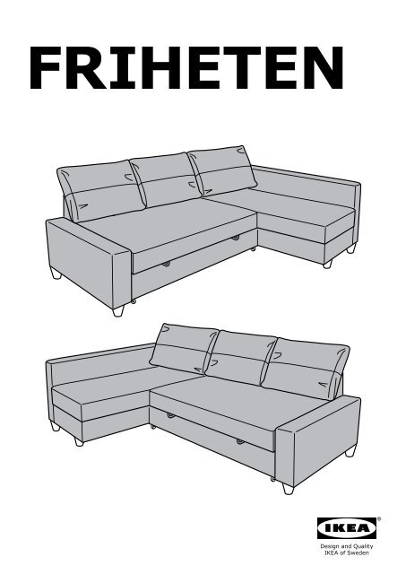 Ikea friheten divano letto angolare 80262366 for Letto angolare