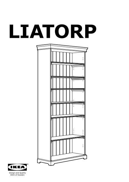 Ikea Liatorp Combinazione Di Mobili S99046443 Istruzioni Di