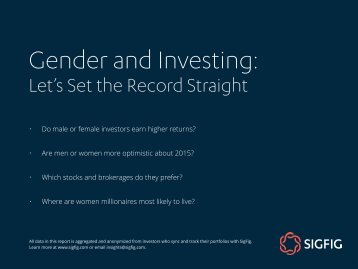 Gender and Investing