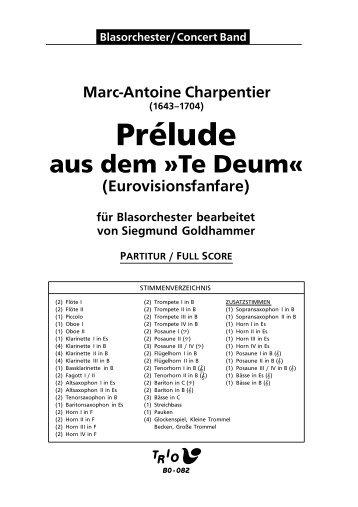 """Prelude aus dem """"Te Deum"""" - Demopartitur (BO-082)"""