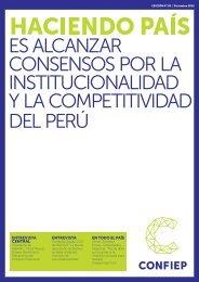 ES ALCANZAR CONSENSOS POR LA INSTITUCIONALIDAD Y LA COMPETITIVIDAD DEL PERÚ