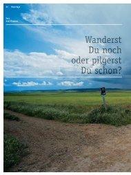 Pilger-Reportage mit Thomas Schubiger - Kundenmagazin 2010 www