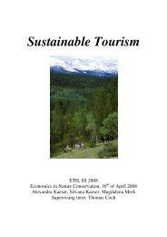 Sustainable Tourism Bericht