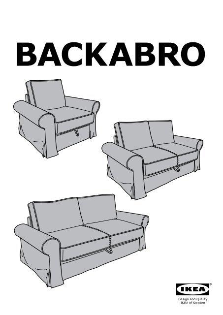 Fodera Divano Letto 3 Posti.Ikea Backabro Fodera Per Divano Letto A 3 Posti 90260965