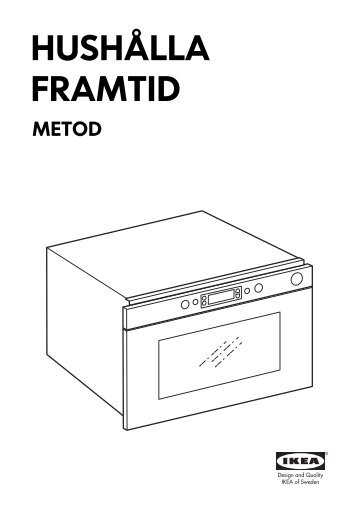 Ikea FRAMTID forno a microonde - 90303390 - Istruzioni di montaggio