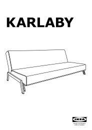 Ikea KARLABY / KARLSKOGA divano letto a 3 posti - S49926527 - Istruzioni di montaggio