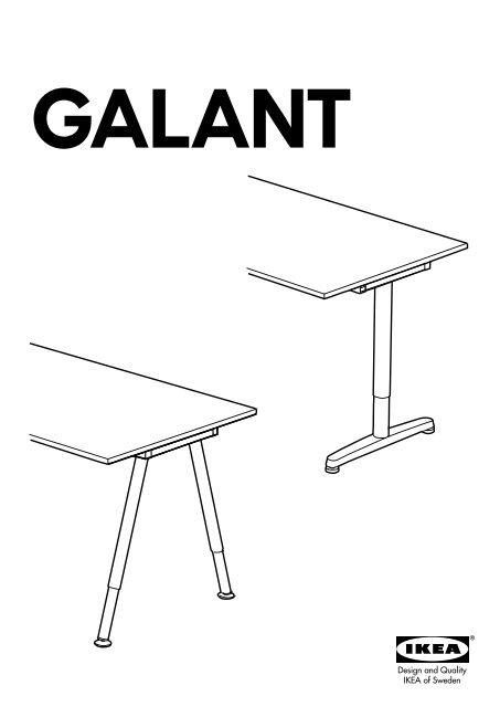 Scrivania Galant Vetro.Ikea Galant Scrivania S59860229 Istruzioni Montaggio Pdf