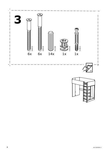 Istruzioni Montaggio Letto A Castello Ikea.101358 4 Aa 1005990 3