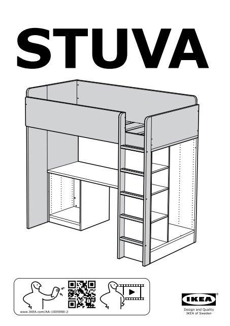 Istruzioni Montaggio Letto A Castello Ikea.Ikea Stuva Letto Soppalco 4 Cassetti 2 Ante S89028543 Istruzioni