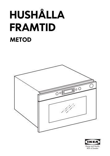 Ikea HUSHÅLLA forno a microonde - 40303383 - Istruzioni di montaggio