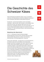 Die Geschichte des Schweizer Käses - ritzycampus
