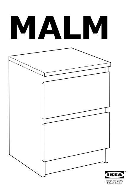 Ikea Malm Cassettiera 2 Cassetti.Ikea Malm Cassettiera Con 2 Cassetti 40062595 Istruzioni Di