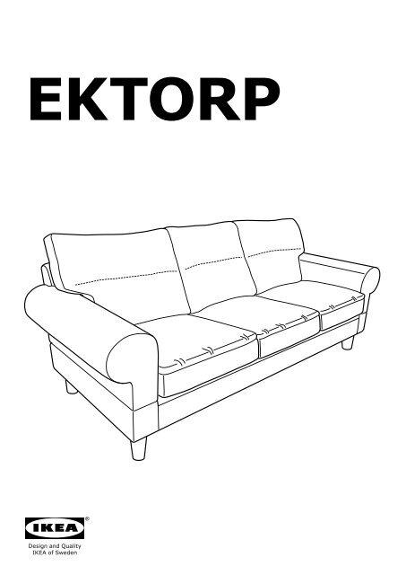 Divano Ektorp Ikea 2 Posti.Ikea Ektorp Divano A 3 Posti S09875841 Istruzioni Montaggio Pdf