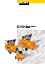 Workshop Compressors CLASSIC Series - Kaeser Kompressoren