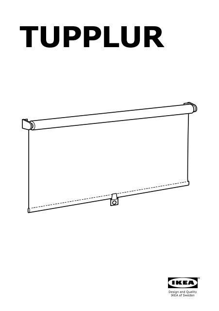 Ikea Tupplur Tenda A Rullo Oscurante 50290530 Istruzioni Di
