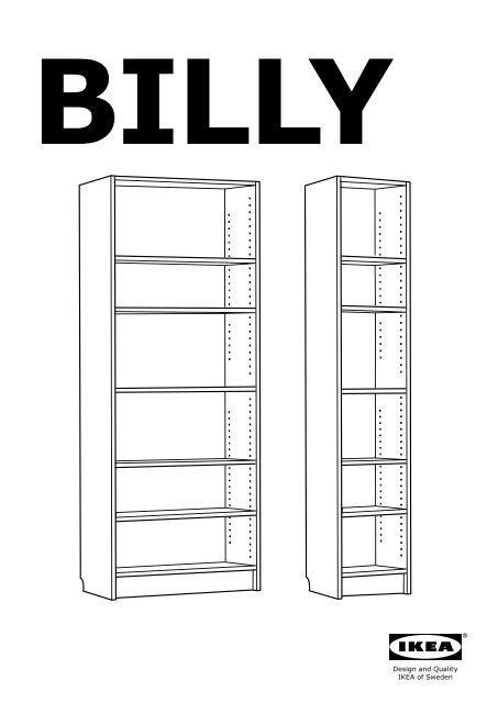 ikea billy libreria s istruzioni di montaggio