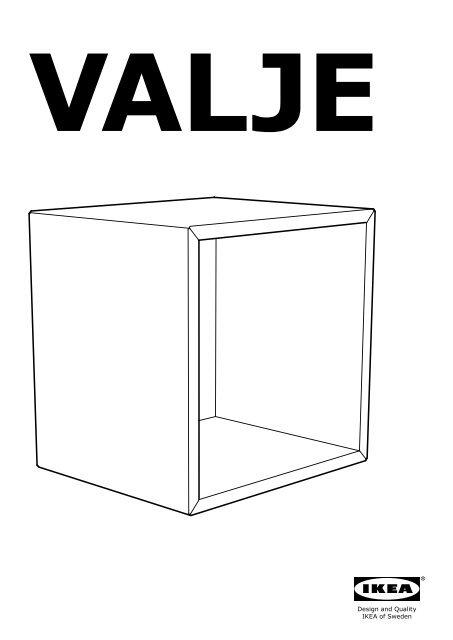 Ikea Valje Pensile 90279597 Istruzioni Di Montaggio
