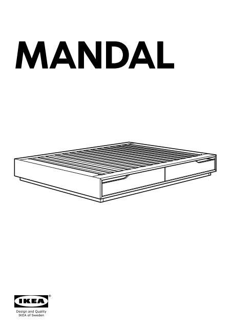 Ikea MANDAL Struttura Letto Con Contenitore - 30280481 ...