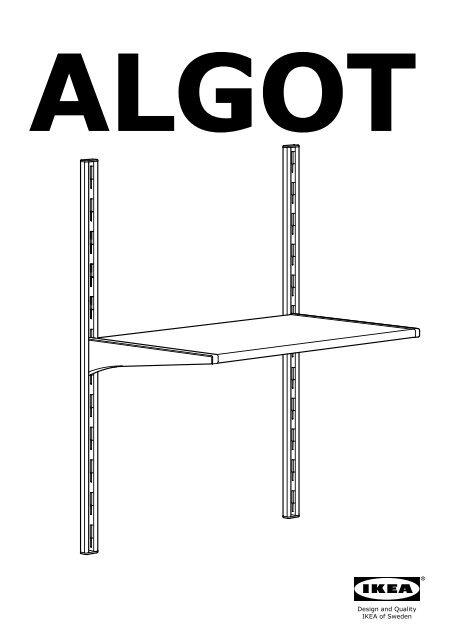 Ikea Algot Guida Da Parete Ripiani S19929631 Istruzioni Montaggio