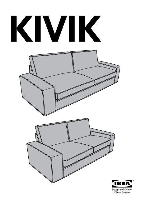 Ikea Kivik Fodera Per Divano A 2 Posti 10211177 Istruzioni