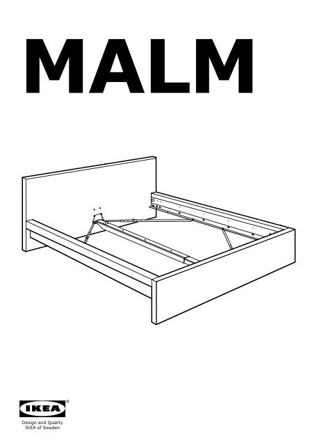 Ikea MALM Struttura Letto, Bassa   S39893565   Istruzioni Di Montaggio