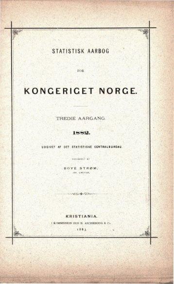 Norway Yearbook - 1882