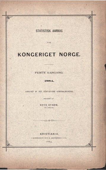 Norway Yearbook - 1884