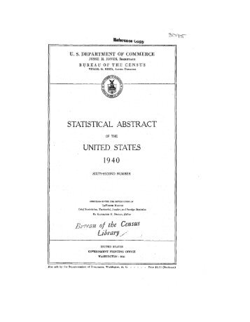 United States yearbook - 1940
