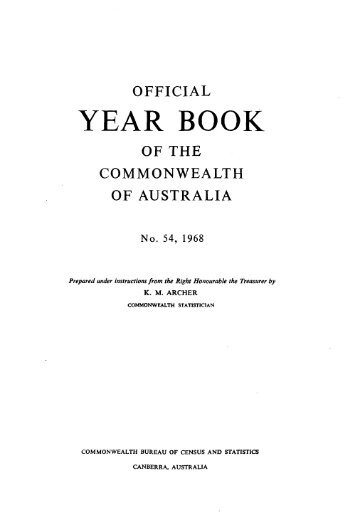Australia Yearbook - 1968