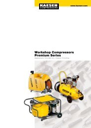 Workshop Compressors Premium Series - Kaeser Kompressoren